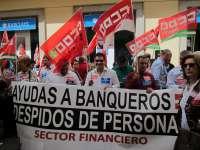 Trabajadores de Barclays hacen huelga contra los