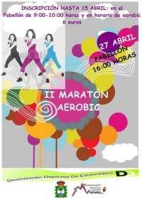 Más de un centenar de jóvenes participa en el II Maratón de Aeróbic de Ribera del Fresno (Badajoz)