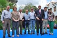 El PP reconoce la labor como militantes de Antonio Cordero, Antonio Mena y Jesús Vázquez