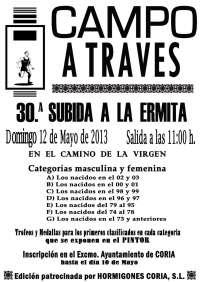 El evento deportivo 'Subida a la ermita campo a través' de Coria (Cáceres) cumple 30 años