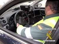 La Guardia Civil detiene al conductor de un vehículo de alta gama que circulaba a 224 kilómetros por hora
