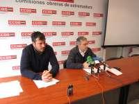CCOO y UGT animan a participar en la manifestación de en Badajoz para pedir