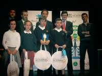 Diego Mendoza, del Colegio Irabia-Izaga, ganador del concurso escolar 'Spelling Bee'