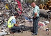Guardia Civil arresta a alrededor de un centenar de personas al año por el robo de cable de cobre