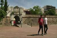 Dos jóvenes gallegos recorren España andando para lanzar un mensaje