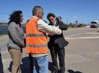 Comienzan las obras de emergencia de las carreteras regionales afectadas por el último temporal