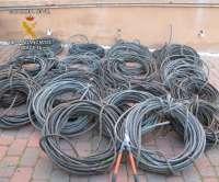 Un detenido en Alcaraz (Albacete) por robar en una finca agrícola 1.038 kilogramos de cobre