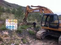 Junta inicia en el Almanzora las obras para restituir las tuberías de los trasvases dañadas en el temporal