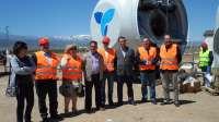 Inauguran en Huéneja el primer parque eólico de Eozen, que vuelve a la actividad