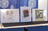 Policía Nacional recupera en Málaga dos obras de Picasso y una de Joán Miró robadas en 2010