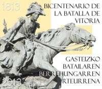 Correos pondrá en circulación este viernes dos sellos con motivo del Bicentenario de la Batalla de Vitoria