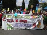 Protestas en el Colegio Aljarafe para reclamar a la Junta un aula de integración