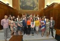 Una delegación lituana se interesa por los programas municipales de formación para desempleados