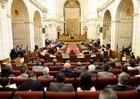 Herrero, Carbonero y Fernández siguen el discurso de Griñán en el Debate de la Comunidad desde la tribuna de invitados