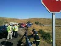 Nueve muertos y 22 heridos al salirse de la vía un autobús de línea en Tornadizos (Ávila)