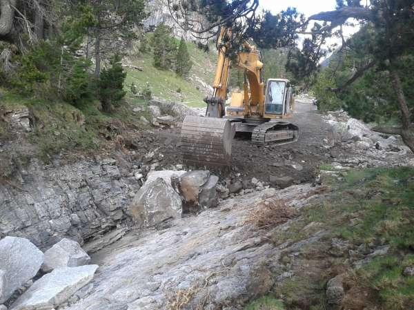 El Gobierno finaliza los trabajos de urgencia realizados para paliar los daños causados por la crecida del río Ésera