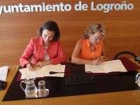 El Ayuntamiento de Logroño aporta 15.700 a la AECC que financiarán los proyectos 'Clases sin humo' y 'Mucho por vivir'