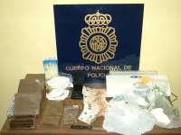 Detenida una joven acusada de guardar en su casa cinco kilos de hachís y 218 gramos de cocaína