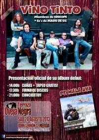 El café pub Ovejanegra de Mérida sigue ofreciendo conciertos de grupos extremeños con la banda de rock Vino Tinto