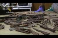 La Guardia Civil interviene más de 2.000 objetos arqueológicos expoliados en yacimientos de Aragón y zonas limítrofes
