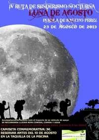La IV Ruta Nocturna 'Luna de Agosto' acerca el senderismo a los vecinos de Puebla de Sancho Pérez (Badajoz)