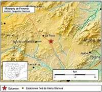 Las pedanías altas de Lorca y el oeste del municipio registran terremotos de 1,6 y 1,8 grados