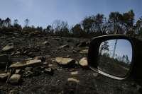 Extinguido el incendio forestal de Caldas de Reis (Pontevedra) tras quemar unas 35,5 hectáreas