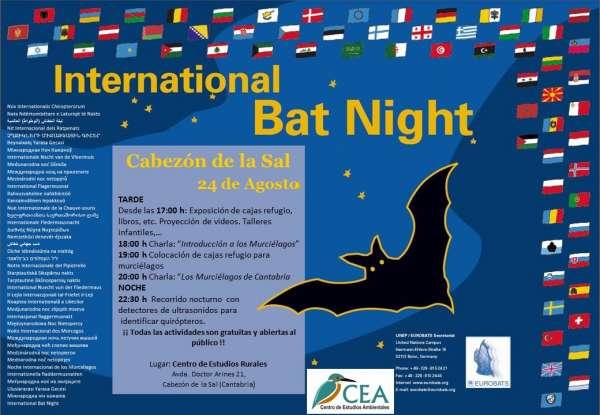 Cantabria se une el día 24 a la celebración de la Noche Internacional de los Murciélagos
