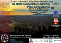 Trasierra (Badajoz) celebrará su III Ruta Senderista Nocturna el próximo 31 de agosto