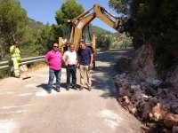 Diputación concluye la adecuación de la carretera que une Segura de la Sierra con Los Colladicos