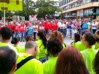 Cerca de 500 personas se concentran en Torrelavega (Cantabria) para apoyar a los trabajadores de Golden Line