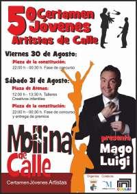Jóvenes magos, malabaristas, acróbatas, humoristas y cantantes tomarán las calles de Mollina