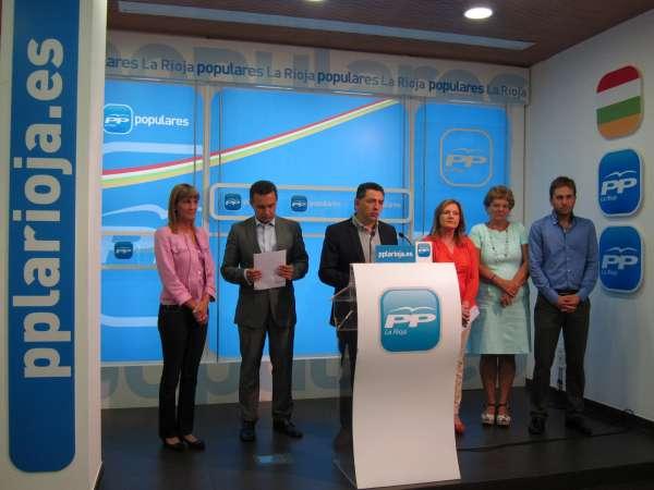 El PP afirma que los compromisos del Gobierno central con La Rioja