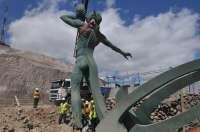 Finaliza la primera fase de la renovación de la Playa de La Laja (Gran Canaria) con la elevación del 'Tritón'