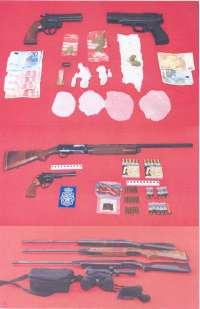 Cinco detenidos en Ciudad real por tráfico de drogas, receptación y tenencia ilícita de armas