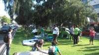 Interinos inician frente al Parlamento una acampada de una semana con actividades por la supresión de 4.500 plazas