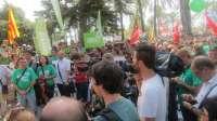 AV- Más de 4.000 manifestantes se concentran ante la sede del Govern balear en apoyo a la huelga indefinida en educación