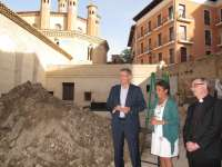 Comienzan las obras en el jardín del claustro de San Pedro de Teruel