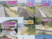El Gobierno de Navarra instala nuevas señales viales para indicar 16 puntos turísticos relevantes