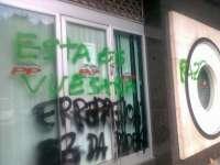 El PP denuncia pintadas