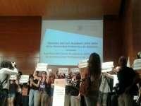 Estudiantes paralizan la apertura de curso de la UPV al grito de
