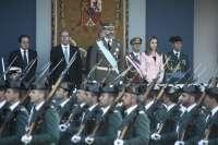 Diego asiste en Madrid al tradicional desfile de la Fiesta Nacional y a la recepción en el Palacio Real
