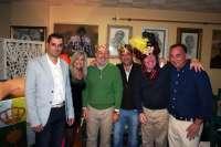 José Manuel Soto, César Cadaval y el empresario Domingo Cabello, Reyes Magos de Bormujos