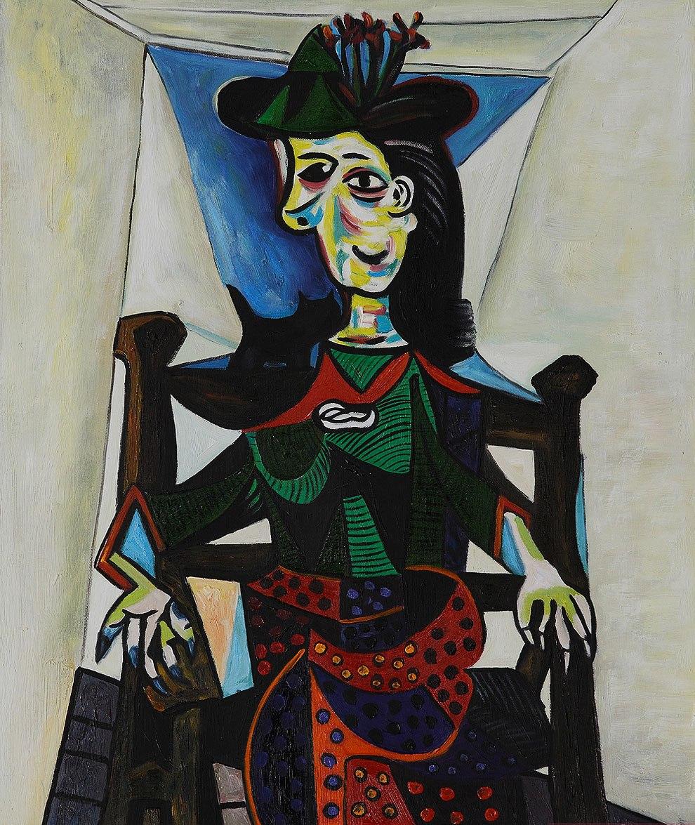 Dora Maar con gato, de Picasso.
