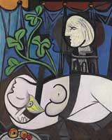 Desnudo con hojas de Picasso.