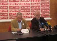 UGT-PV y CCOO-PV instan a secundar las manifestaciones en defensa de lo público y contra la reforma de las pensiones