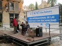 Un centenar de personas se concentra en Palma en defensa de los derechos de los discapacidados