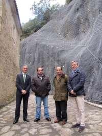 Finalizan las obras de estabilización del talud junto al Monasterio de Santo Toribio