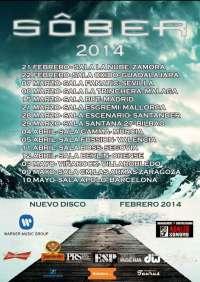 Sôber anuncia nuevo disco y gira española a partir de febrero de 2014, con parada en Málaga y Sevilla
