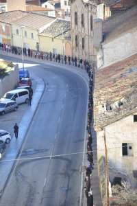 Más de 300 personas reivindican la rehabilitación del antiguo asilo de Teruel